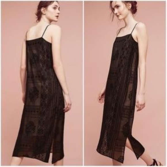 4741f8c48fb2 Anthropologie Dresses | Embroidered Luna Slip Dress | Poshmark